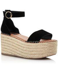 Aqua Women's Ria Suede Espadrille Platform Sandals - Multicolour