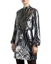 Ted Baker Sequined Mini Dress - Metallic