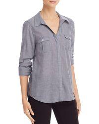 Joie Booker Gingham Shirt - Blue