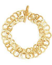 Ippolita 18k Yellow Gold Classico Hammered Link Bracelet - Metallic