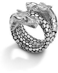 John Hardy - Naga Sterling Silver Coil Ring - Lyst