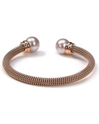 Majorica - Stainless Steel And Nuage Simulated Pearl Cuff - Lyst