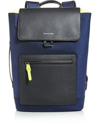 Michael Kors Brooklyn Flap Nylon Backpack - Blue