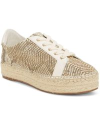 a560d2f7e8f91f Vince Camuto - Women s Joellan Snake-embossed Leather Espadrille Sneakers -  Lyst