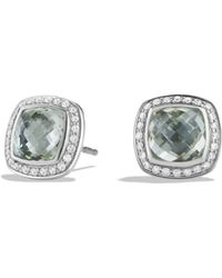 David Yurman - Albion Earrings With Prasiolite And Diamonds - Lyst