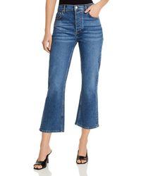 Aqua High - Rise Crop Flare Jeans In Medium Blue