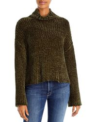 Bella Dahl Chenille Turtleneck Sweater - Green