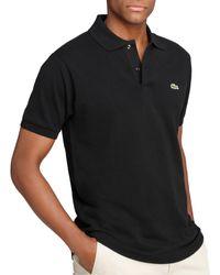 Lacoste Piqué Classic Fit Polo Shirt - Black