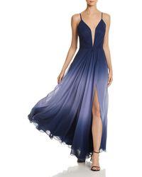 Aqua - Ombré Chiffon Gown - Lyst