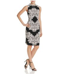 Adrianna Papell - Dolce Lace-print Sheath Dress - Lyst