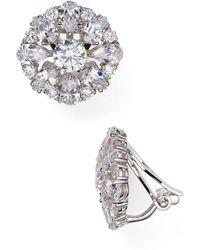 Nadri - Stud Clip-on Earrings - Lyst