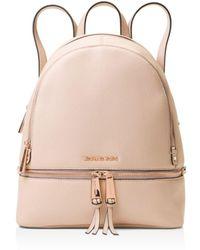 9806514595b3 MICHAEL Michael Kors - Michael Kors Rhea Medium Zip Leather Backpack - Lyst