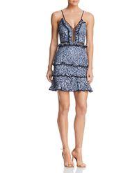 Keepsake - Catch Me Lace Mini Dress - Lyst