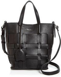 3.1 Phillip Lim Odita Mini Modern Small Lattice Leather Bucket Bag - Black