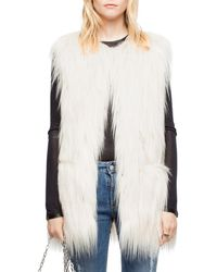 Zadig & Voltaire Fire Faux-fur Vest - Multicolour