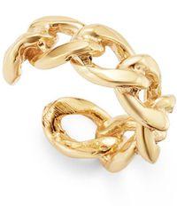 Zoe Chicco 14k Yellow Gold Chain Ear Cuff - Metallic