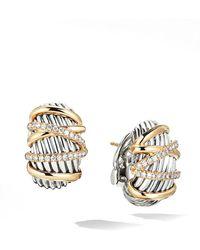 David Yurman - Helena Shrimp Earrings With 18k Yellow Gold & Diamonds - Lyst