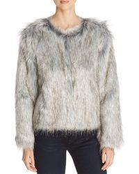 Unreal Fur Fire & Ice Short Faux Fur Coat - Metallic