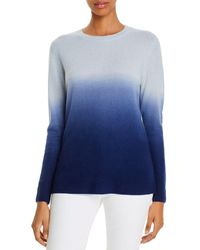 C By Bloomingdale's Cashmere Dip - Dyed Jumper - Blue