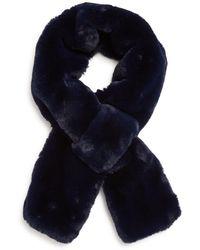 Apparis Luna Faux Fur Scarf - Blue