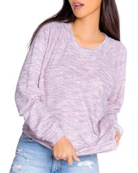 Pj Salvage Spaced Out Long - Sleeve Top - Purple