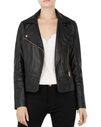 b195c3bad8b79 Lyst - Women s Ted Baker Leather jackets On Sale