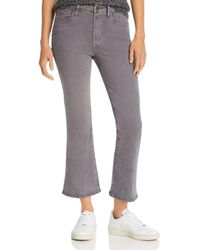 FRAME - Le Crop Mini Boot Sateen Jeans In Smoke - Lyst