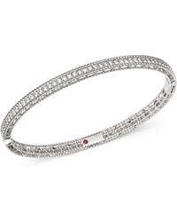 Roberto Coin - 18k White Gold Symphony Braided Bangle Bracelet With Diamonds - Lyst