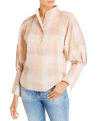 Joie Dia Plaid Shirt - Pink