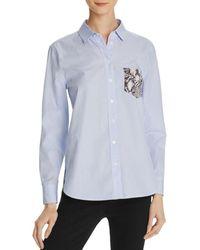 Equipment - Leema Printed Pocket Shirt - Lyst