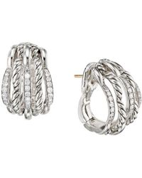 David Yurman - Tides Shrimp Earrings With Diamonds - Lyst