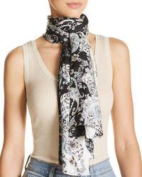 Echo - Rajasthan Paisley Print Oblong Silk Scarf - Lyst