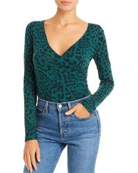 n:PHILANTHROPY Doha Leopard Print Bodysuit - Green
