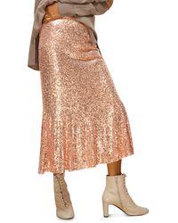 Whistles Sequin Midi Skirt - Multicolour
