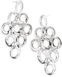 Ippolita Sterling Silver Open Oval Cascade Earrings - Metallic