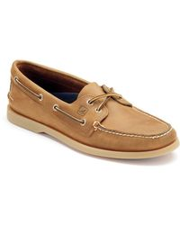 Sperry Top-Sider Men's Authentic Original Two Eye Leather Boat Shoes - Brown