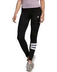 adidas - Triple Stripe Detail Leggings - Lyst