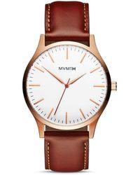 MVMT D-mt01-wbr 40 Series 3-hand Watch - Brown