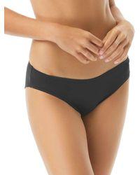 Vince Camuto Shirred Bikini Bottom - Black