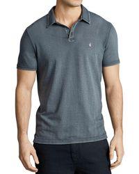 John Varvatos Peace Slim Fit Polo Shirt - Grey