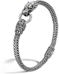 John Hardy Naga Gold And Silver Dragon Station Chain Bracelet - Metallic