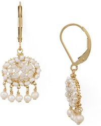 Dana Kellin - Organic Freshwater Pearl & Crystal Chandelier Earrings - Lyst