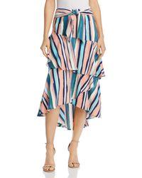 Lost + Wander - Lost + Wander Santorini Ruffle Skirt - Lyst