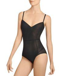 Item M6 All Mesh Low Back Bodysuit - Black