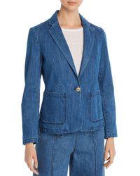 Mkt Studio Vaya Westside Denim Blazer - Blue