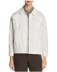 Kenneth Cole - Oversized Denim Jacket - Lyst