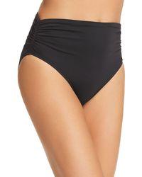 Vince Camuto High - Waist Bikini Bottom - Black