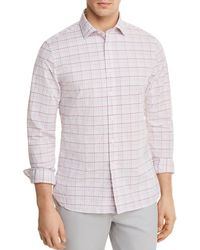 Bloomingdale's - Plaid Regular Fit Button-down Shirt - Lyst
