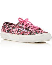 Mary Katrantzou Superga X 2750 Canvas Low - Top Platform Sneakers - Pink
