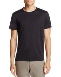 Theory Claey Plaito Regular-fit Cotton Tee - Black